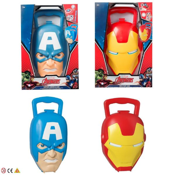 Marvel Avengers Toy Novelty Shaped Case Iron Man or Captain America 3+ Years